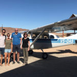 Flying over the Sossusvlei in a Cessna