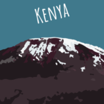 Ochtendfoto's van Kenia